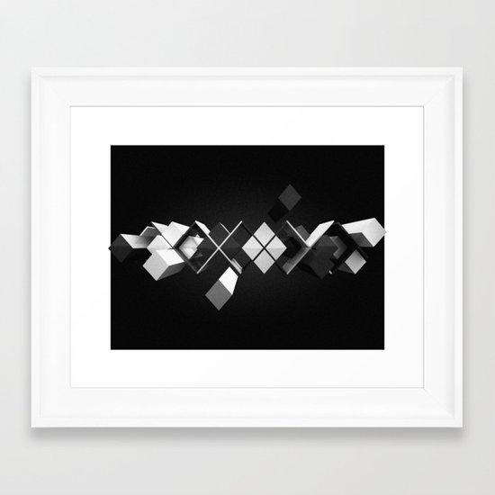 Argyle Deconstruction Framed Art Print