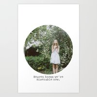Heaven Knows We're Miser… Art Print