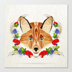 Spring Fox  Canvas Print