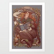 NOUVEAU FOLK WITCH Art Print