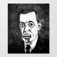 28. Zombie Woodrow Wilso… Canvas Print