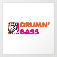 Drumn' Bass  Art Print