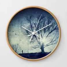 cold light of winter Wall Clock