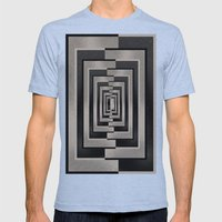 Abstract Pattern Mens Fitted Tee Athletic Blue SMALL