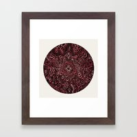 Intimate Portrait in Red Framed Art Print