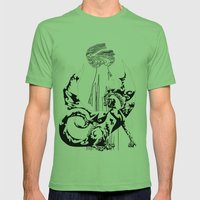 A Dragon from your Subconscious Mind Mens Fitted Tee Grass SMALL