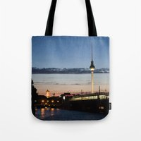 Berlin at night Tote Bag