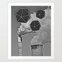 Icosahedron Invasion Art Print