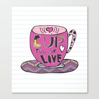 Cup Full Of Love Canvas Print