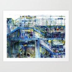 Subway - Bronx, New York  Art Print