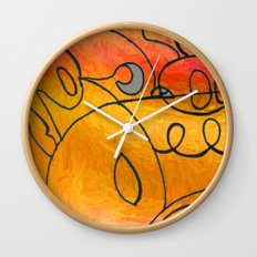 Curves at Sunset Wall Clock