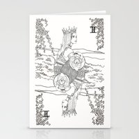 The Queen (Twins) - Black/White Stationery Cards