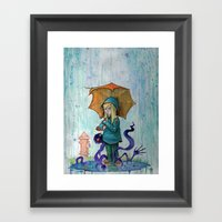 Alone To Soak Framed Art Print