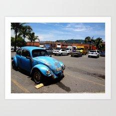 Old VW Buggy Art Print