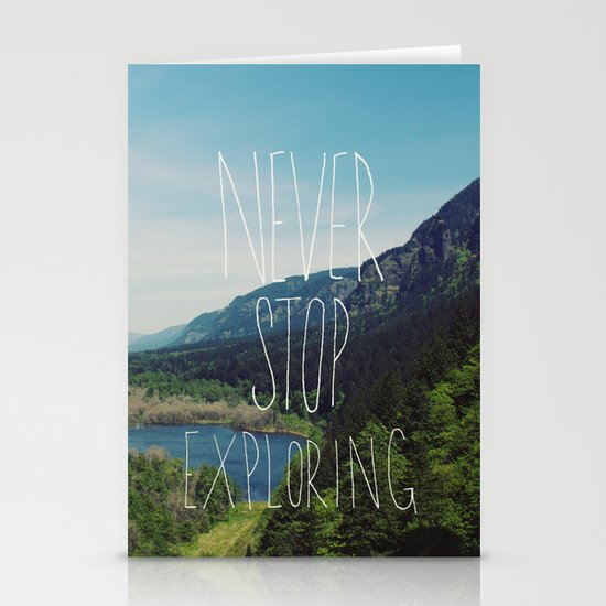 Never Stop Exploring Stationery Card