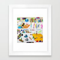 They Don't Stop Framed Art Print