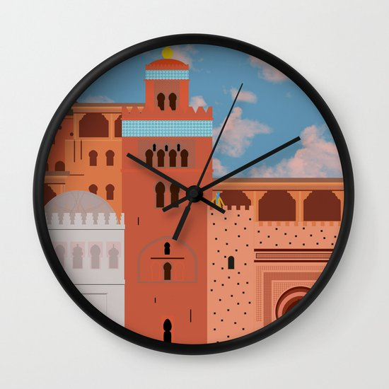 Moroccan Arch Wall Clock