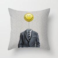 Mr. Smiley :) Throw Pillow