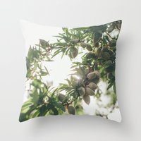 Almond Tree Throw Pillow