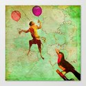 The monkey who wanted to be a bird Canvas Print