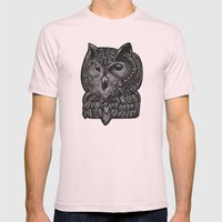 Cool owl Mens Fitted Tee Light Pink SMALL