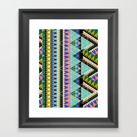 RETRiangles. Framed Art Print