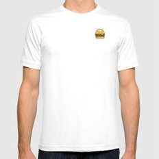 hamBOOger Jr SMALL White Mens Fitted Tee