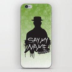 Say My Name - Heisenberg (Silhouette version) iPhone & iPod Skin