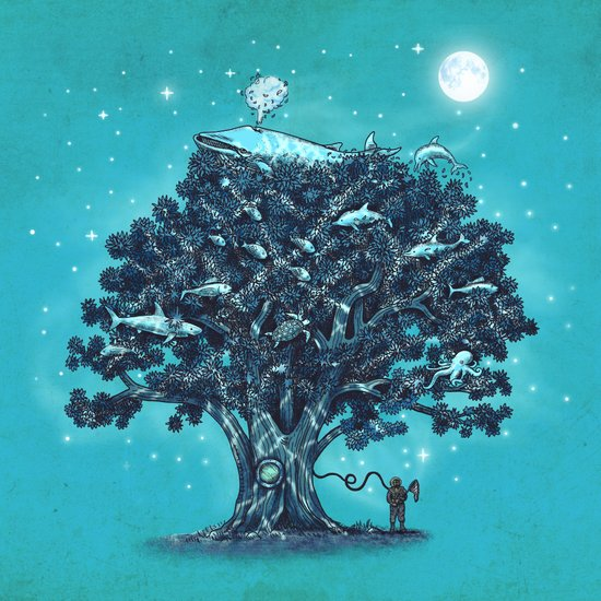 Deep Tree Diving  Art Print