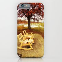 iPhone & iPod Case featuring Come Sit, Stay Awhile... by DeLayne