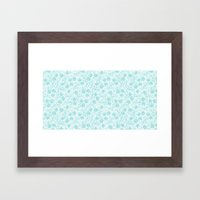 small floral pattern Framed Art Print