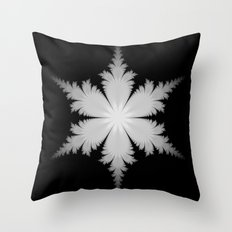 Fractal Snowflake Throw Pillow