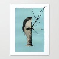 Medusa (Theme I, Blue) Canvas Print