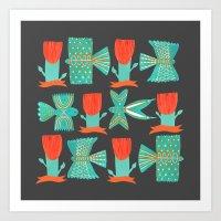 Aztecish Birds Art Print
