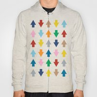 Arrows Up And Down Black Hoody