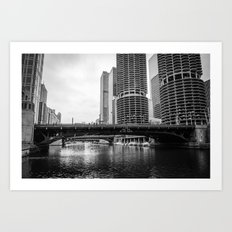 Chicago Riverwalk - State Street Art Print