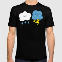Fair Weather Friends Mens Fitted Tee Black SMALL