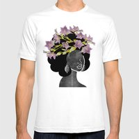 Wildflower Crown II Mens Fitted Tee White SMALL