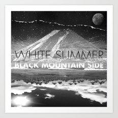 White Summer / Black Mountain Side Art Print
