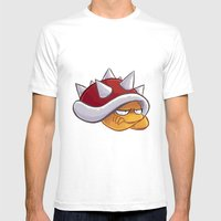 Spiny Mens Fitted Tee White SMALL