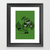 Power Ranger Smith. Framed Art Print