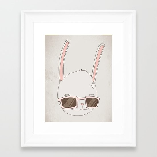 빠숑토끼 fashiong tokki Framed Art Print