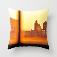 Fire Outside The Window Throw Pillow