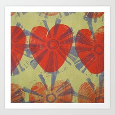 hearts on fire Art Print