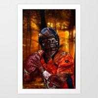 Peyton Manning Zombie Art Print