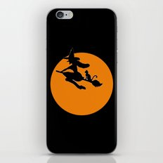 Flying Witch with Cat iPhone & iPod Skin