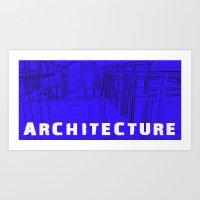 Architecture Blue Art Print
