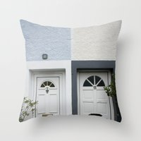 Front Doors Throw Pillow