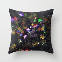 Starry Starry Night Neon (1) Throw Pillow