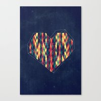 Interstellar Heart Canvas Print